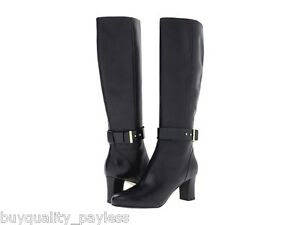 Image is loading 300-Cole-Haan-Miriam-Tall-Black-Leather-Fashion-