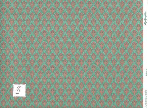 "Wallpaper   Hobarth green  168D2 dollhouse miniature 1pc 11x17/""  1-12 scale"