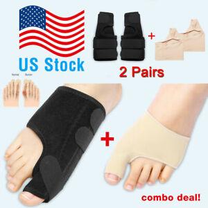 2Types-Big-Toe-Bunion-Splint-Straightener-Corrector-Hallux-Valgu-Relief-Pain-New