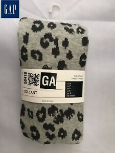 GAP-Girls-039-Kids-039-Leopard-Collant-Footed-Size-S-Brand-New-US-Seller-1-Pair-Socks