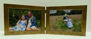 3-5x5-4x5-4x6-5x7-Antique-Gold-Double-Hinged-Horizontal-Wood-Picture-Frame-New
