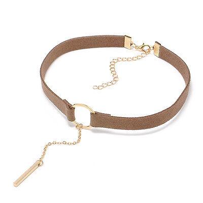 2017 Women Fashion Chain Jewelry Choker Collar Velvet Stylish Pendant Necklace