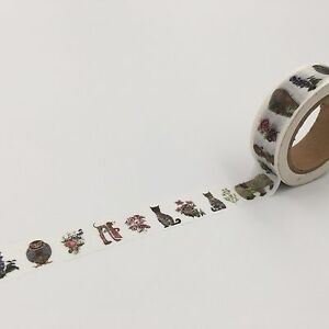 Japan Anime Print Washi tape Garden Sculpture Flower Animal Cartoon
