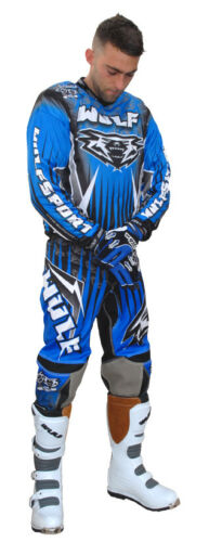 Wulfsport Adult Arena Kits Blue Motorbike Motocross MX Leisure Wear Yamaha