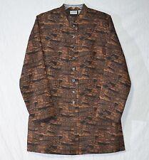 CHICO'S Copper Brown Brocade Jacket sz 1 (8-10) Evening Glow SARAH Coat NWT $108