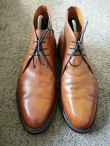 188- Boots Cuir Grainé Marron Crockett&Jones Chepstow 11E/45 BON ÉTAT