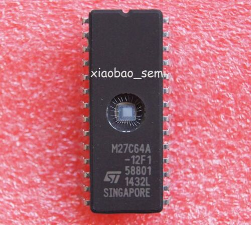 10pcs M27C64A-12F1 M27C64A IC EPROM UV 64KBIT 100NS DIP-28
