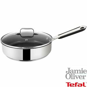 Jamie-Oliver-by-Tefal-Everyday-25cm-Saute-Pan-amp-Lid-Non-Stick-Stainless-Steel