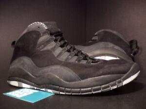 brand new aab53 d2270 Image is loading 2012-Nike-Air-Jordan-X-10-Retro-BLACK-