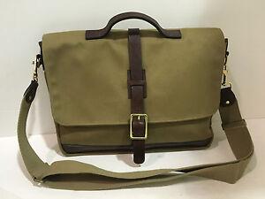 New-KORCHMAR-Z9232-Dawson-Bag-Waxed-Cotton-Leather-Messenger-Briefcase-315