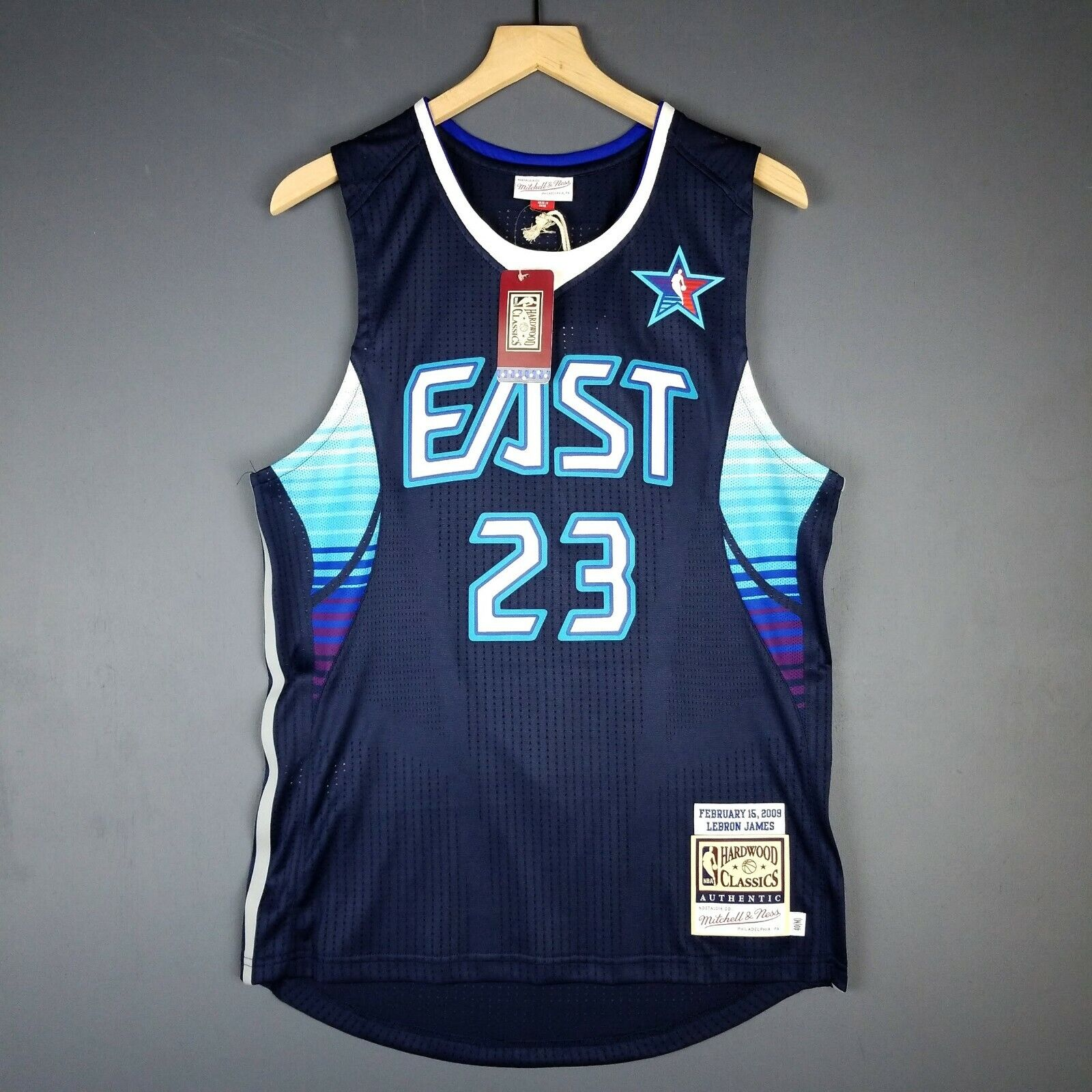 100% Authentisch Lebron James Mitchell Mitchell Mitchell & Ness 2009 All Spiel Trikot Größe 40 M edf2fc