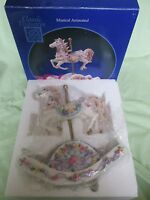 Rocking Horse Musical Animated Carousel Horse Hand Painted Classic Treasures