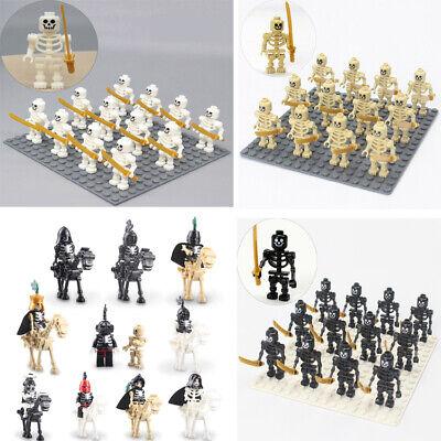 10-12PCS Skeleton soldier building blocks minifigures Ninja bones minifigures