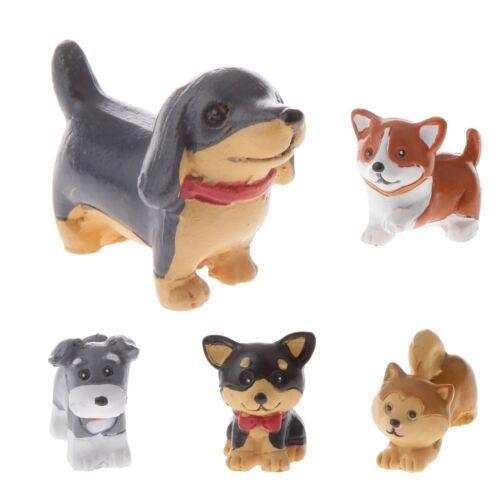 5 Styles Cute Dog Miniature Fairy Garden Landscape Crafts Plant Pot Figurine