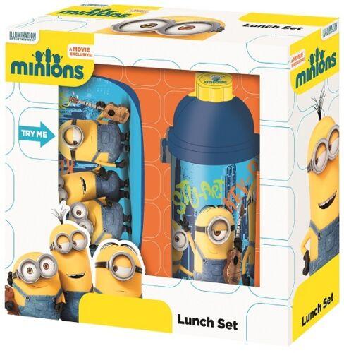 Minions Pausenset Lunchbox Brotdose Set Kinder NEU Trinkflasche Brotzeit