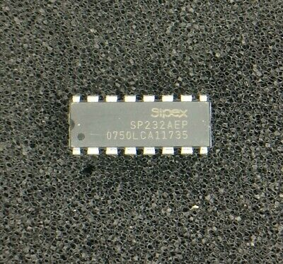 LOT OF 2 SP232  IC DVR//RCVR RS232 16-PIN DIP SP232ACP