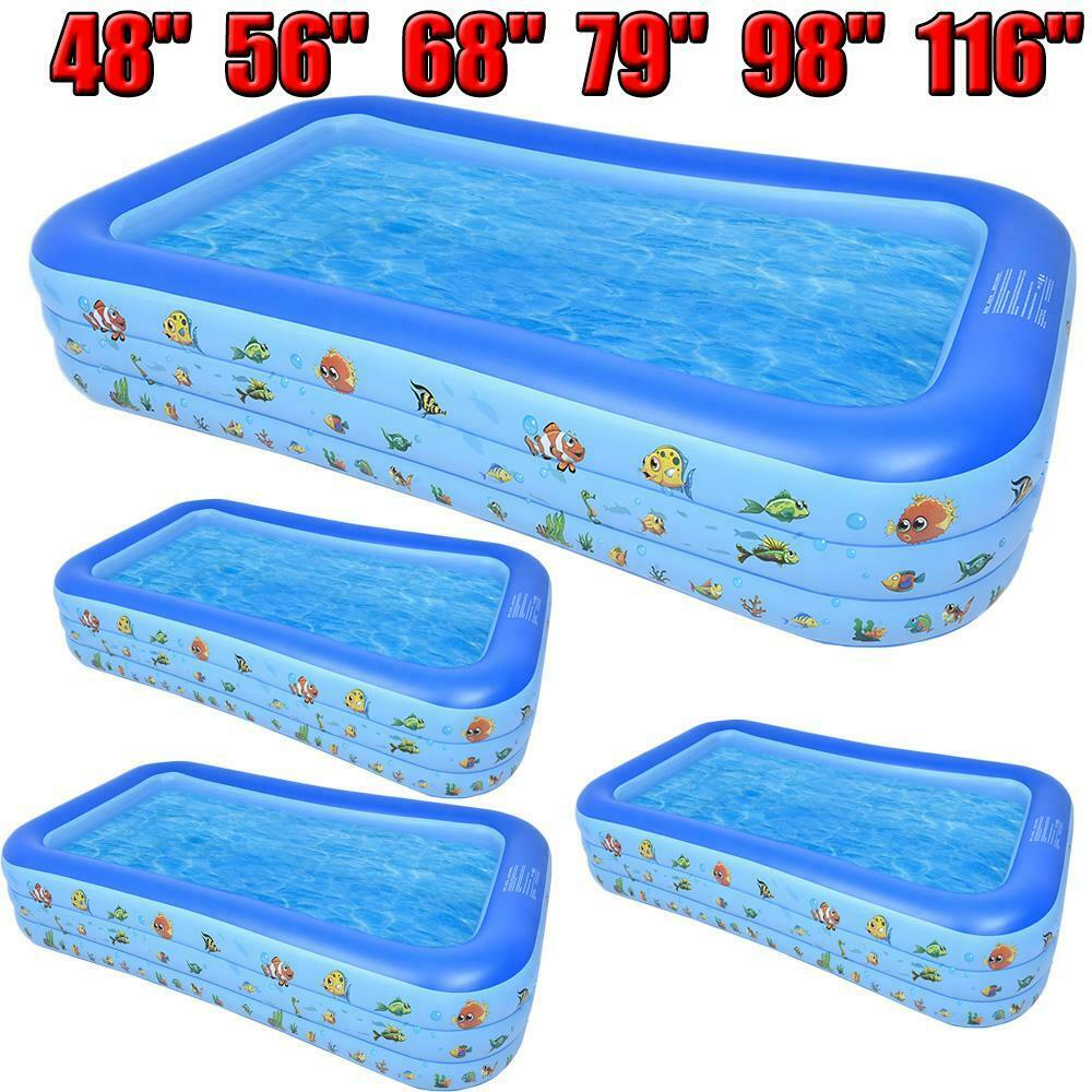 116'' Large Family Swimming Pool Garden Outdoor Summer Inflatable Paddling Pools
