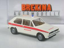 schon selten: Brekina Holland #25512 VW Golf 1 Brandweer Feuerwehr in OVP