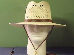 d3c861c7ec9 Image is loading STETSON-AIRWAY-VENTED-GENUINE-PANAMA-STRAW-OUTDOOR-FEDORA