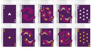 Playing Cards Deck Brand New Purple The Serpent
