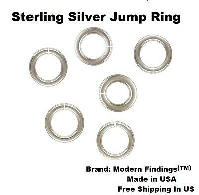 See Variations Choose Size /& Quantity 24 Ga Sterling Silver Delicate Jump Ring