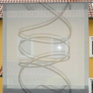 Scheibengardinen-Breite-38-cm-x-Hoehe-41-cm-neu-modern-Gardine-Paneel