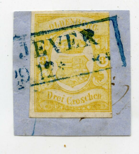 Germany Old Germany Oldenburg Mi.14 Postmarked Letter Piece