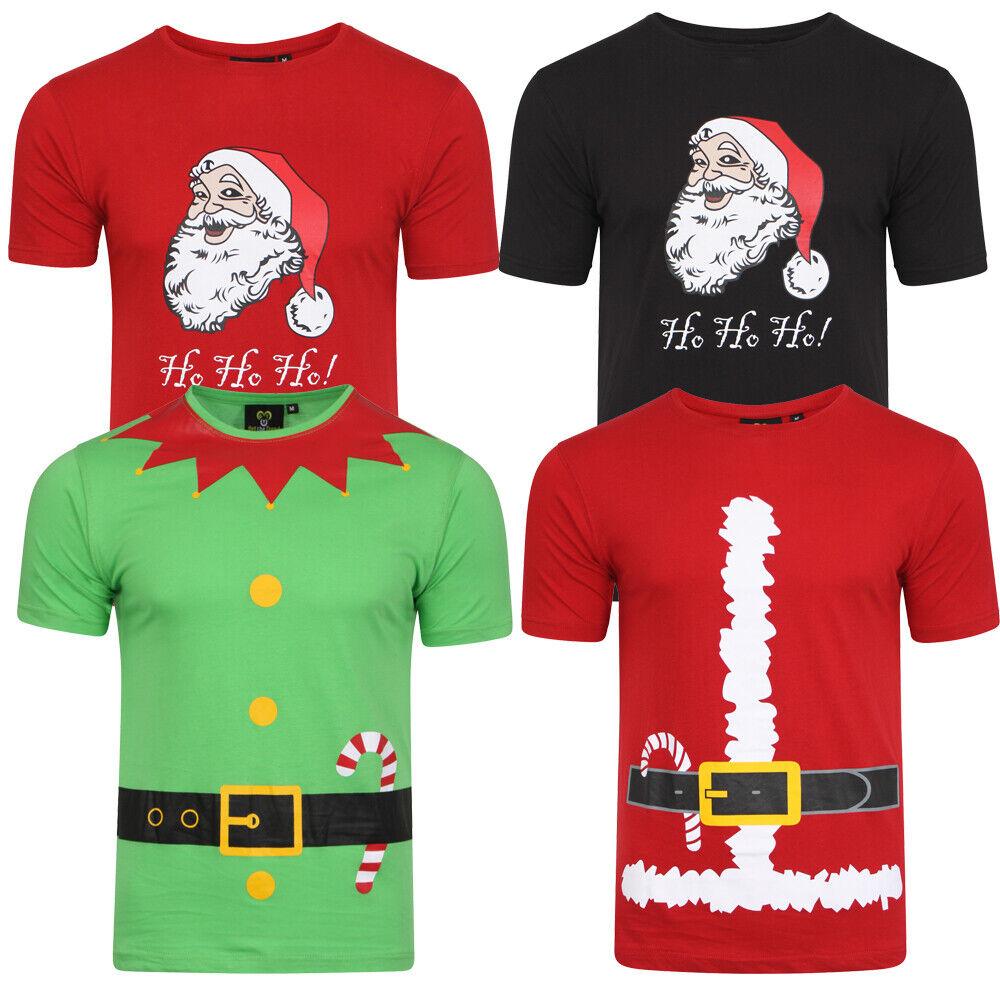Herren Weihnachten T-Shirt Bedruckt Lustig Neuheit Cartoon Geschenk T-Shirt