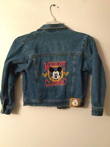 Sale! Vintage Mickey Mouse International Brand Denim Jacket Size Medium Rare!