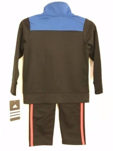 ADIDAS NWT Boys 2PC Track Suit Jacket Pants Top Zip Warm Up Tricot 4 5 6