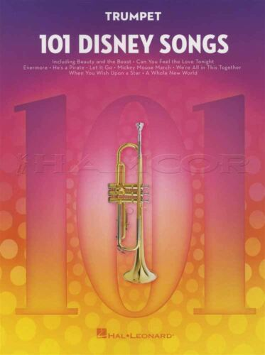 101 Disney Songs for Trumpet Sheet Music Book Frozen Lion King Toy Story Moana