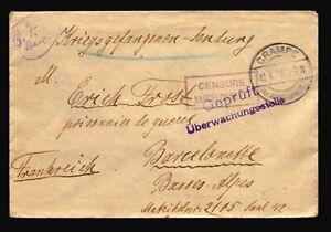 Germany-1916-POW-Cover-CRAMPE-Censored-Z14302
