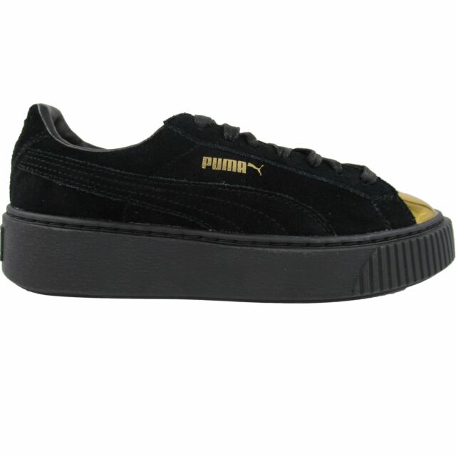 PUMA 36222202 Black Suede Gold Patent
