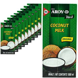 10-x-Aroy-D-Latte-di-Cocco-1-litri-di-latte-COCCO-COCONUT-MILK-cremosa-per-cucinare