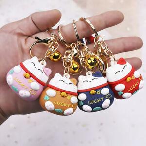 Cartoon-Cute-Key-Chian-Lucky-Doll-Cat-Keychains-Car-New-Key-Ring-Jewelry-TI