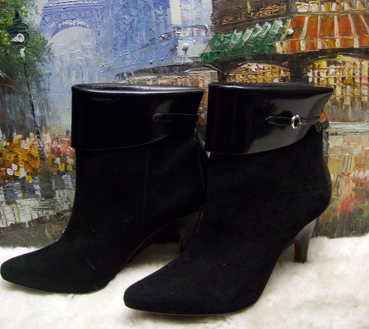 10 Crosby Derek Lam Black Ankle Boots - Size 8M -  395