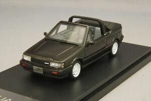 1/43 Hi-Story MAZDA FAMILIA Cabriolet 1986 mousseux noir métallisé HS265BK