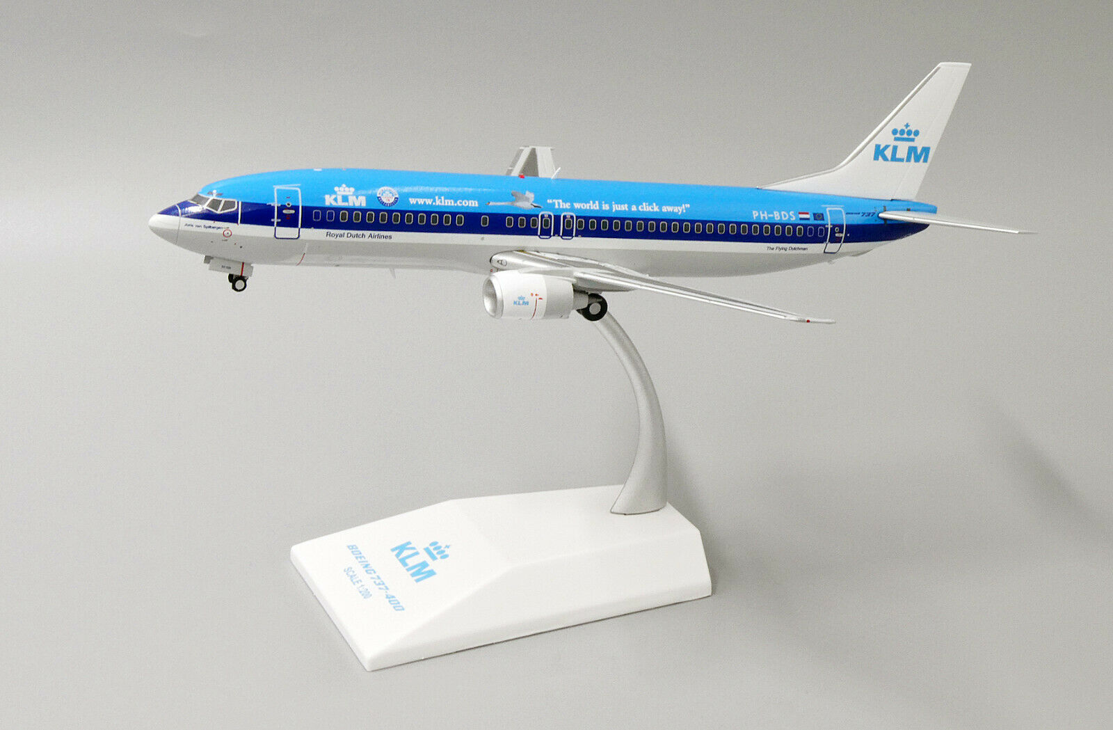 JC2055 1 200 KLM ROYAL DUTCH AIRLINES B737-400 PH-BDS Welt IS JUST A CLICK AWAY