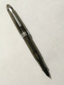 JINHAO-992-CLEAR-BLACK-CHROME-TRIM-EXTRA-FINE-FOUNTAIN-PEN-CONVERTER-UK-SELLER