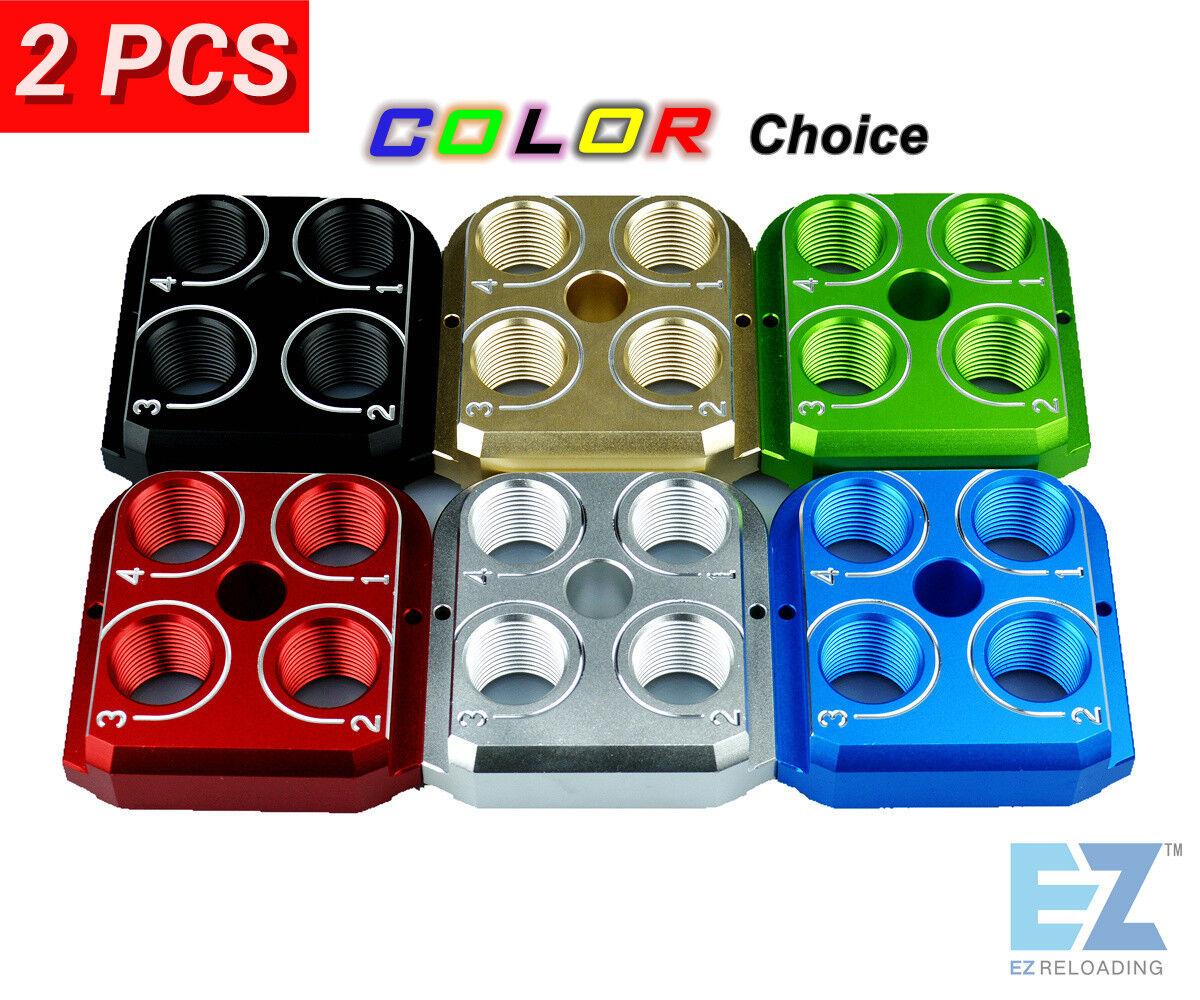 (2) Dillon Precision RL550B 550C Style tool head Aluminum Anodized CNC toolhead