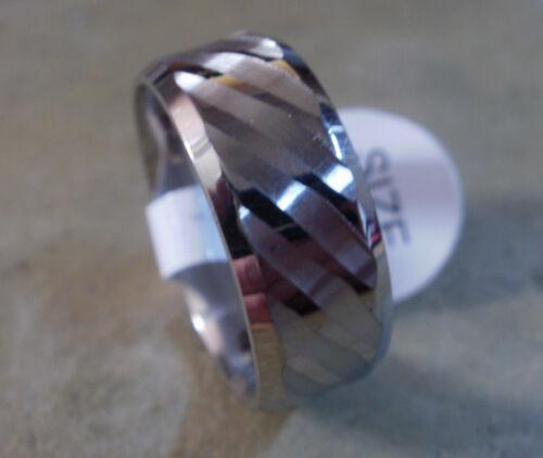 Partnerring 1427 Damen und Herren Edelstahl Ring Muster Schlicht
