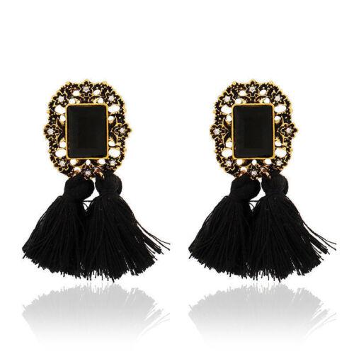 Bohemian Big Earrings for Women Tassel Large Statement Earrings Jewelry Gift New