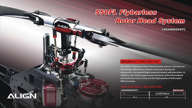 Align T-REX 550FL MOZZO DEL ROTORE FLYBARLESS Sistema H55H002XXT