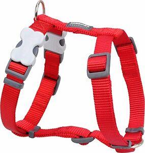 Red-Dingo-Lisa-Rojo-Arnes-para-perro-o-cachorro-Tamanos-XS-LG-Libre-P-amp-P