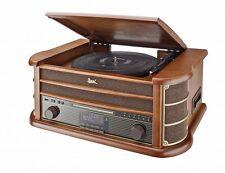 DUAL NR 50 DAB Nostalgie-Digitalradio mit Plattenspieler, DAB+/CD/USB/Kassette