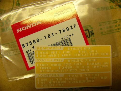 Honda CB 400 500 550 650 750 Four Aufkleber Tank Original Mark drive caution