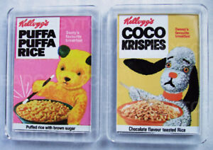 SOOTY-and-SWEEP-CEREAL-pair-of-SMALL-FRIDGE-MAGNETS-RETRO-COOL
