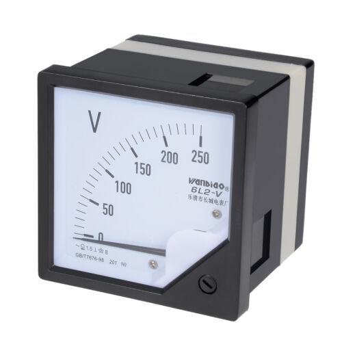 AC 0-250V Analoganzeige Voltmeter Spannung Messgerät 6L2 1,5/% Fehlergrenze