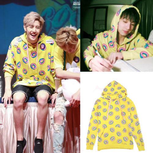 Kpop GOT7 Mark Just Right Jumper Hoodie BTS Donut Hoodies Sweatshirt Coat