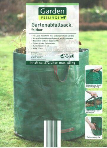 Laubsack Abfallsack 2er Set Pop-Up Sack Gartensack Spielzeugsack Wäschesack